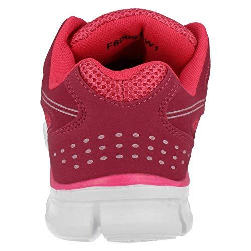 Spot On - Zapatillas Deportivas con Cordones para Mujer (38 EU) (Fucsia)