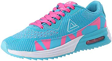 حذاء رياضي بيك بلونين من الجلد الشبكي ورباط علوي للركض للنساء