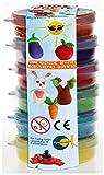 Fun Trading 4852 Bio Knete Set aus 6 bunten Farben