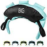 POWRX Saco Búlgaro 8 kg - Bulgarian Bag Ideal para Ejercicios de Entrenamiento Funcional y potenciamiento Muscular (Celeste)