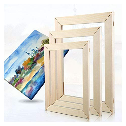 Agnes Bruce Photo Frames Wood Frames For Pictures Canvas Diamond Painting Art Poster DIY Natural Wooden Photo Frames Wall Decor Factory Price (Color : Width 45cm, Size : Height 50cm)