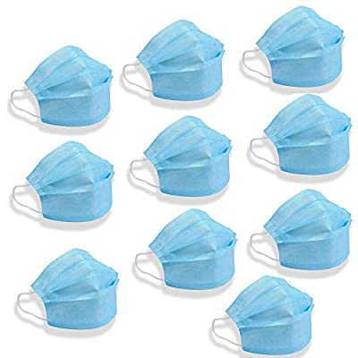 10 Pieces - Disposable - Anti Dust - Breathable Three Layer - Blue
