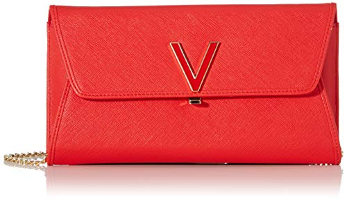 Mario Valentino Valentino by Damen Flash Clutch, Rot (rosso), 3x14x24 cm