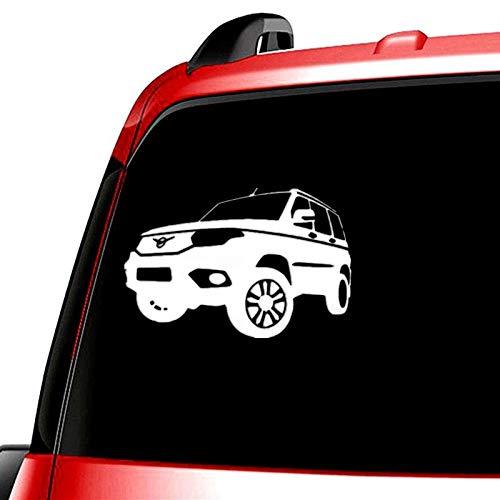 PJYGNK Sticker de Carro TZ-820 13.2 * 20cm 1-5 Piezas Etiqueta engomada del Coche para uaz PatriotAutoadhesivo Pegatinas de Coche extraíbles