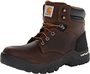 """Carhartt Men's 6"""" Rugged Flex Waterproof Soft Toe Work Boot CMF6066,Brown Oil Tanned Leather,9 M US"""