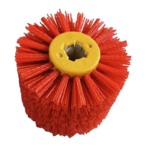 P Prettyia Nylonbürste Schleifbürste für Schleifmaschine, 19 mm Bohrung, Durchmesser: 120 mm, 80/120/180/240 Körnung zur Auawahl - Rot Körnung 80