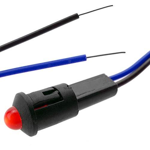 BeMatik - Luz LED piloto de 8mm 220VAC de color rojo (QW017)