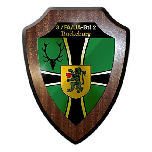 Copytec Wappenschild 3 FA-UA Btl 2 Kompanie Feldwebelanwärter Unteroffizieranwärterbataillon Ausbilder Zug Bundeswehr #23175