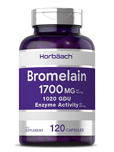 Bromelain 1700mg | 120 Capsules | Natural Pineapple Enzyme Extract | for Maximum Protein Digestion | Non-GMO, Gluten Free Supplement