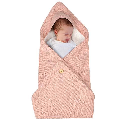 MINASAN Baby Swaddle Wickeltuch Baby Pucksack Baby Einschlagdecke Baby Decke Schlafsack Neugeborene Baby Wickeldecke Warm Weich Swaddle Blanket Für Jungen und Mädchen (Rosa, 80 * 80cm)
