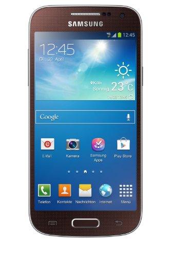 Samsung Galaxy S4 mini Smartphone (10,85 cm (4.27 Zoll) AMOLED-Touchscreen, Micro-Sim, 8 GB interner Speicher, 8 Megapixel Kamera, LTE, NFC, Android 4.2) braun