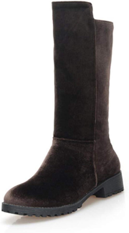 FMWLST stivali Nuove Sautope Lunghe da Donna con Cerniera Stivali Invernali Lunghi Stivali da Donna Caldi Invernali