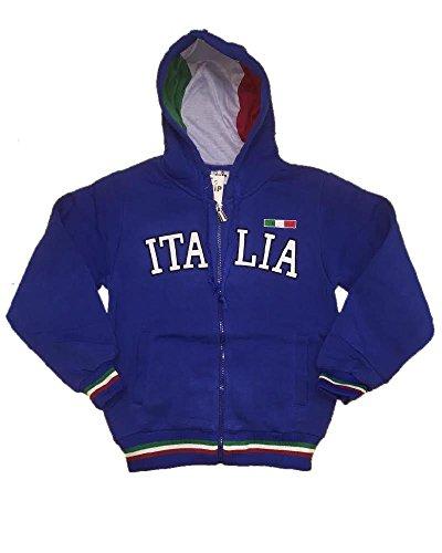 Vari Felpa Uomo con Cappuccio Italia turistica Azzurra o Grigia *23789-S-azzurro