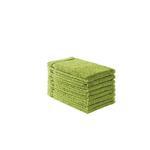 B!HOME 8er Set Gästehandtücher grün 30x50 Frottier Baumwolle