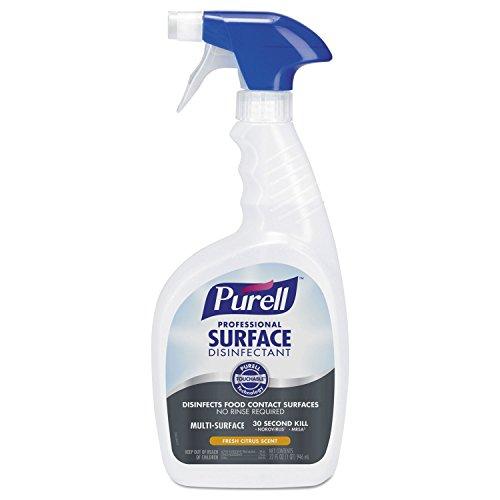 PURELL 334212EA Professional Surface Disinfectant, Fresh Citrus, 32 oz Spray Bottle
