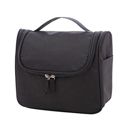Portable sacs de maquillage de grande capacité sac cosmétique boîte de maquillage, noir