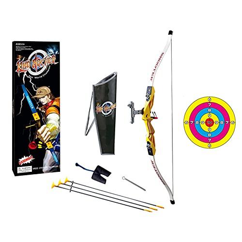 GXHUI Conjunto de Arco y Flecha para niños para Tiro de práctica al Aire Libre para niños Kit de Juguete