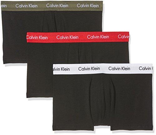 Calvin Klein 3P Lr Trunk 0000U2664G, Boxer Uomo, Multicolore (B-Hunter/Impact/White), Small, Pacco da 3