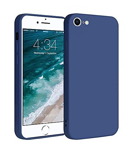 ICOVERI Funda de Silicona Compatible con iPhone 6/7 / 8 / SE Azul. Carcasa Compatible con Accesorios Magsafe y Cargador Inalambrico. Funda Movil Proteccion Antigolpes.