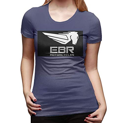 Frauen nehmen T-Stück Symbol EBR Motorräder Cooles T-Shirt Schwarzes ab