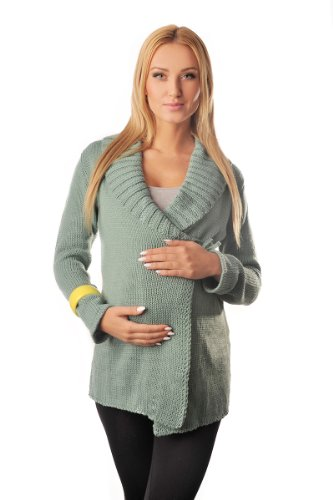 Purpless Maternity maternité de Cardigan Manteau Grossesse Allaitement 9002 (44/46 (UK 16/18), Mint)