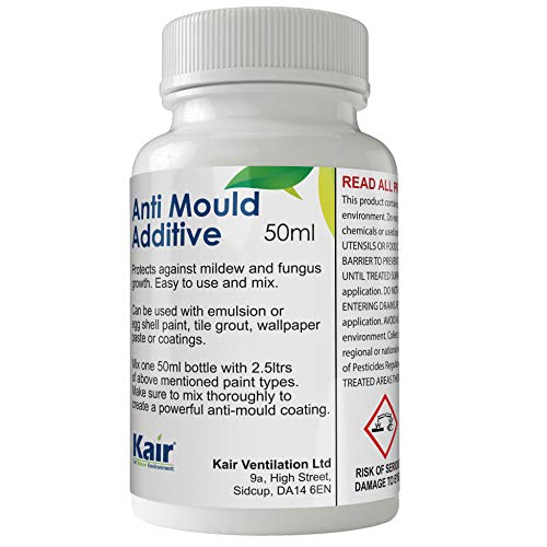 Kair Anti-Mould Additive for Emulsion & Gloss Paint - 50 ml - Protects Against Mildew and Fungus Growth