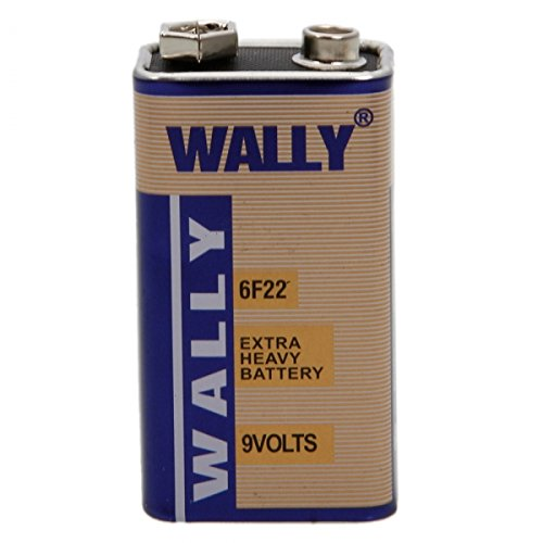 Wally 9V Powerful Zinc-Carbon 6F22 Battery