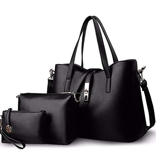 N/A NA Casual Big Bag-Donne Borse e borsette delle Signore di Modo Top Handle Borsa di Pelle Borsa a Tracolla Tote Bags (Color : A)