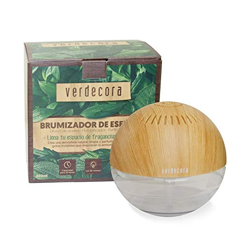 Verdecora | Brumizador de Esencias 400ml - Ambientador Eléctrico - Esencias para Perfumes - Difusor Perfume - Brumizador