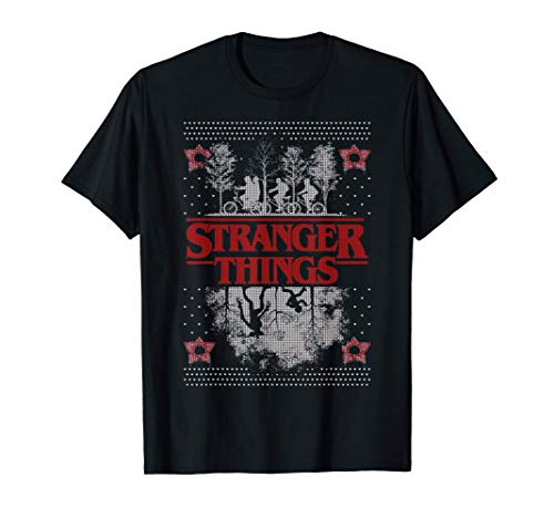 Netflix Stranger Things Ugly Christmas Sweater Style T-Shirt