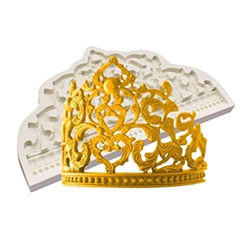 Ycncixwd Sugarcraft Silikonform mit Kronenmotiv, Fondant-Form, Kuchendekoration, Schokolade, Blütenpaste, Form