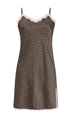 Ringella Lingerie Damen Nachthemd mit Spitzenbesatz Charcoal Grey 42 9562026, Charcoal Grey, 42