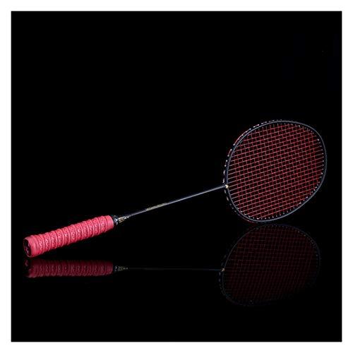 DOUBLE NICE Bádminton Ultralight 6U 72g Strung Bádminton Raqueta Profesional Carbono Badminton Racquet 22-28 Gripes y Pulseras Gratis bádminton Pluma (Color : Red String)