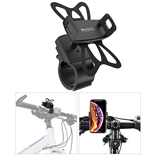 Brownrolly Universele houder voor mobiele telefoon, weegschaal, 360 graden draaibaar, silicone, voor fiets, mountainbike, motorfiets, 4-6,5 inch mobiele telefoon
