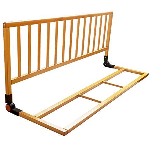 XJJUN-Barandillas para camas Cerca De Bebé A Prueba De Caídas De Madera Barandilla Durable Cama Universal Adecuado para Ancianos Y Niños, 2 Colores (Color : A, Tamaño : 116x38x46cm)