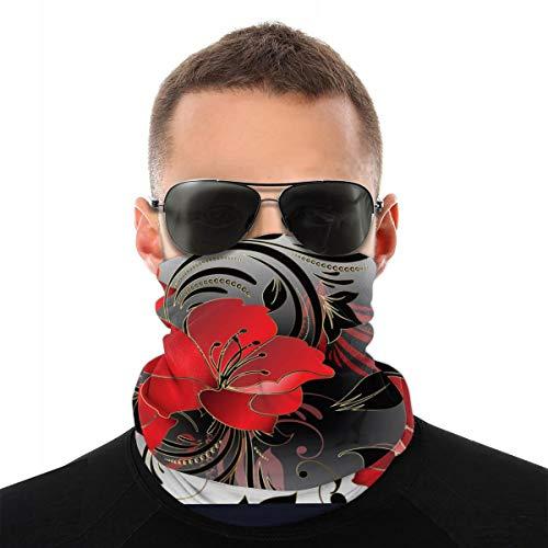 Modern Floral 3d rode bloemen naadloos patroon Vector Image_778 masker lopen turban verscheidenheid magische naadloze hoofddoek outdoor mannen en vrouwen masker