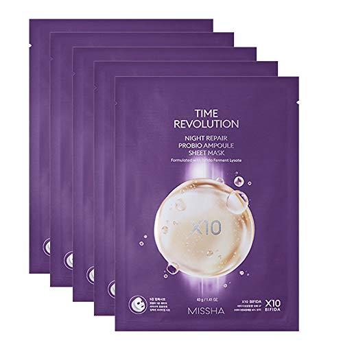 MISSHA Time Revolution Night Repair Probio Ampoule Sheet Mask Tuchmask Korea Kosmetik 1pc