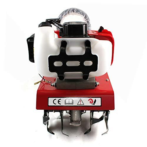 2 PS Benzin Motorhacke Gartenhacke Bodenhacke Kultivator Gartenfräse,20-30cm Arbeitsbreite 8-10cm Arbeitstiefe