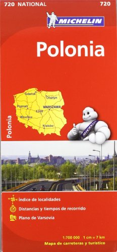 Mapa National Polonia (Mapas National Michelin)