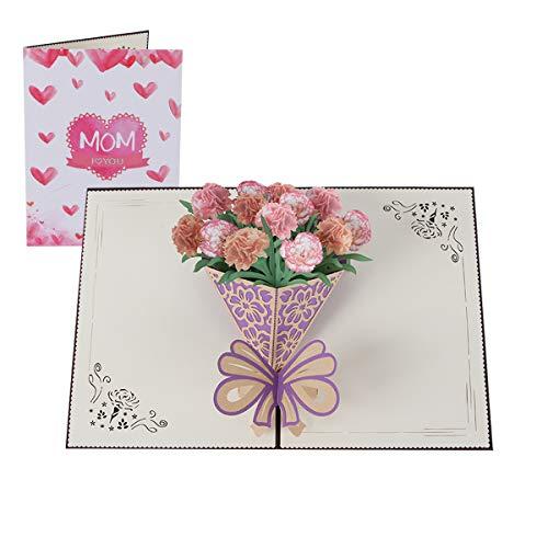 NOZOMI Tarjeta 3D del Día de la Madre, Tarjeta de felicitación Tarjeta emergentepara cumpleaños, regalo de aniversario de bodas de la esposa