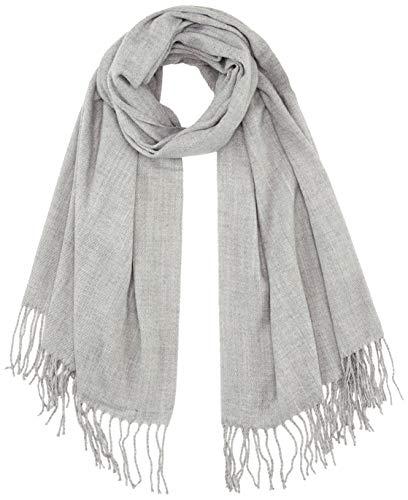 ONLY Damen ONLANNALI Weaved Scarf CC Schal, Light Grey Melange, ONE Size