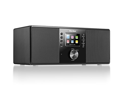 Karcher DAB 7000i Internetradio (DAB+ / UKW-RDS, WLAN & Bluetooth, USB-Anschluss, AUX-IN, Wecker mit Dual-Alarm) schwarz