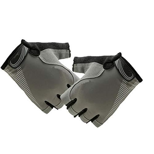 Ciclismo Guantes Transpirable Protección De Palm Anti Slip Guantes Deportivos para Completar Un Ciclo De Conducción a Caballo Gris L 1pair