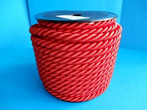 Cordon tressé Rouge vin Ø 4 mm Au mètre Rayher