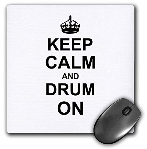 Halten Sie Ruhe und Trommel weiter Trommeln Geschenk für Schlagzeuger Percussionist Musiker Funny Humor Mouse Pad