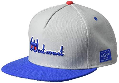 Cayler & Sons Herren Snapback Caps Westcoast Grau...