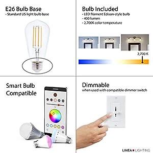 Andante LED Industrial 2 Light Wall Sconce - Chrome Fixture - Linea di Liara LL-WL427-PC