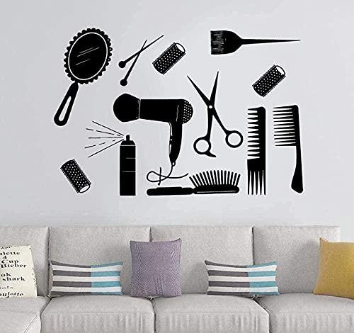 Pegatinas de pared brillantes 42X62Cm Bonitos muebles de salón Peluquería Peluqueríapara el...