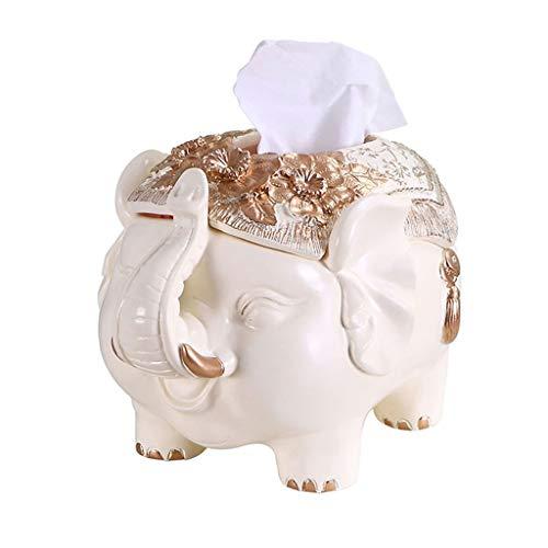 Caja Pañuelos Elefante Caja de pañuelos Sala de estar Mesa de servilleta de escritorio Minimalista moderno Práctico Bandeja decorativa Caja de almacenamiento de control remoto Dispensador Pañuelos