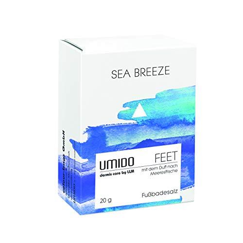 UMIDO Fußbadesalz 20 g Meeresfrische - Badezusatz - Fußbad - Fußpflege bei Fußpilz - Nagelpilz - Fußgeruch - 1 x Badesalz 20 g (2-FPF)